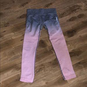 Gymshark Ombré Pink\Grey High Waisted Leggings